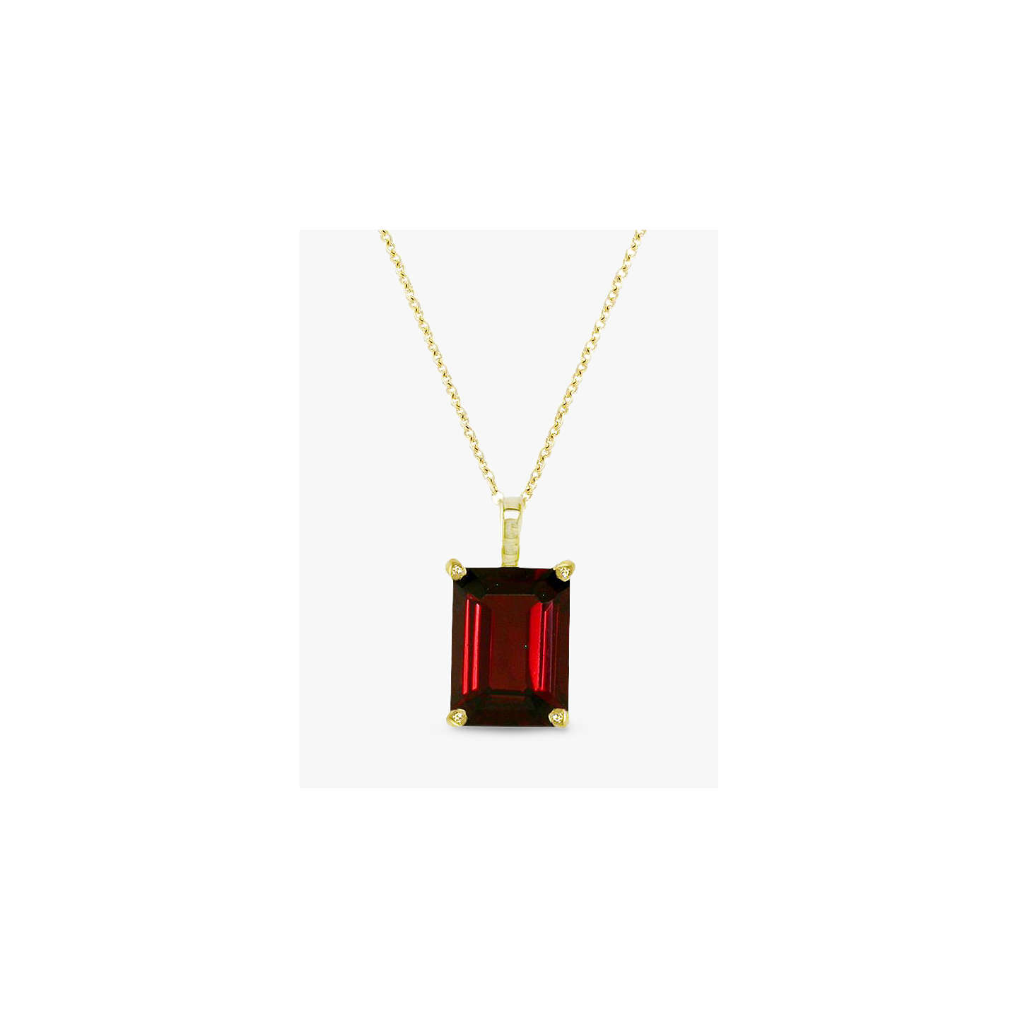 Ewa 9ct gold garnet pendant necklace red at john lewis buyewa 9ct gold garnet pendant necklace red online at johnlewis mozeypictures Gallery