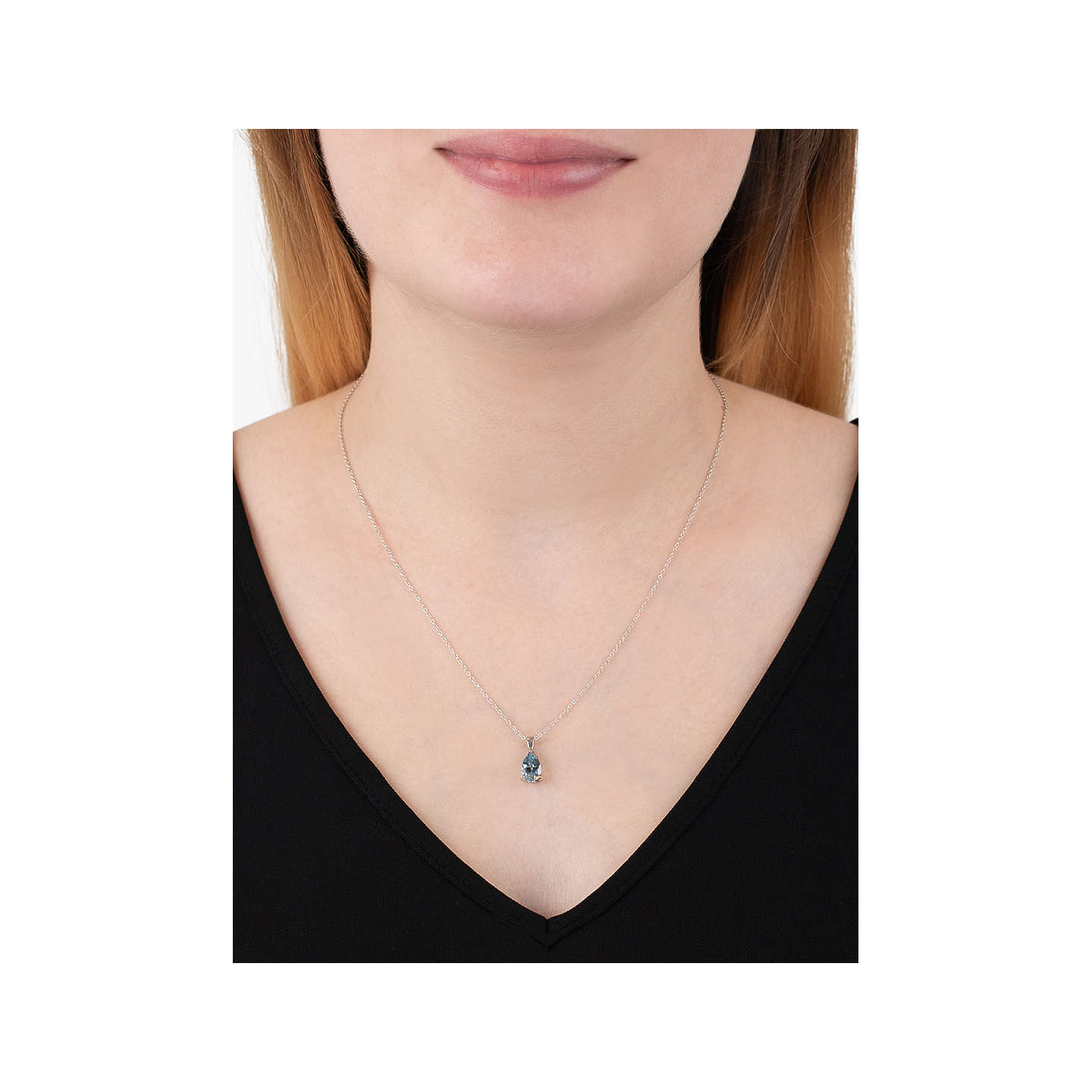 bling cz color vintage inch hl blue style pendant my silver necklace teardrop jewelry