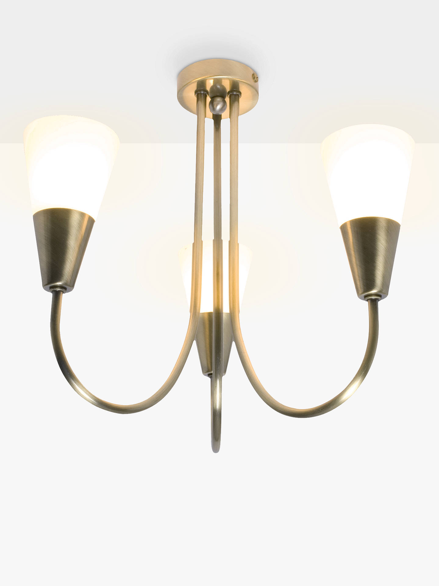 John Lewis Partners Lulu 3 Arm Ceiling Light Br