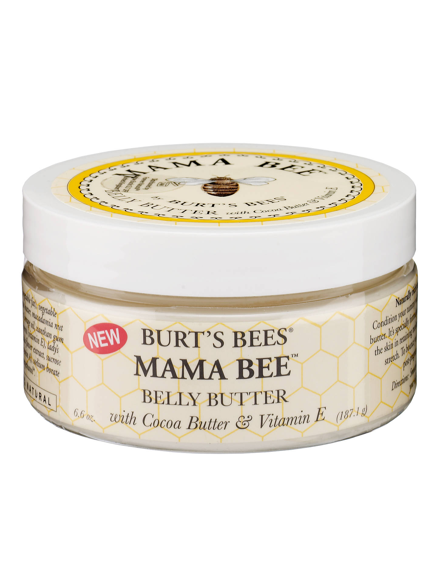 BuyBurt's Bees Mama Bee Belly Butter, 187.1g Online at johnlewis.com