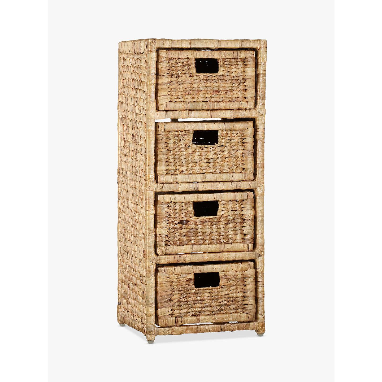 BuyJohn Lewis Water Hyacinth Storage Unit, 4 Drawer Online At Johnlewis.com  ...