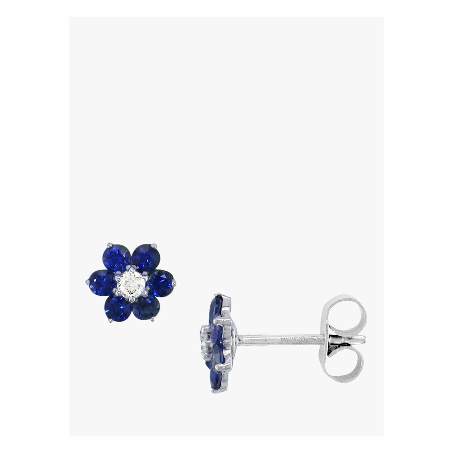 pointy big earrings flower shopperboard product stud strass
