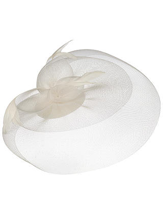 Buy Whiteleys Fine Mesh Fascinator, White Online at johnlewis.com