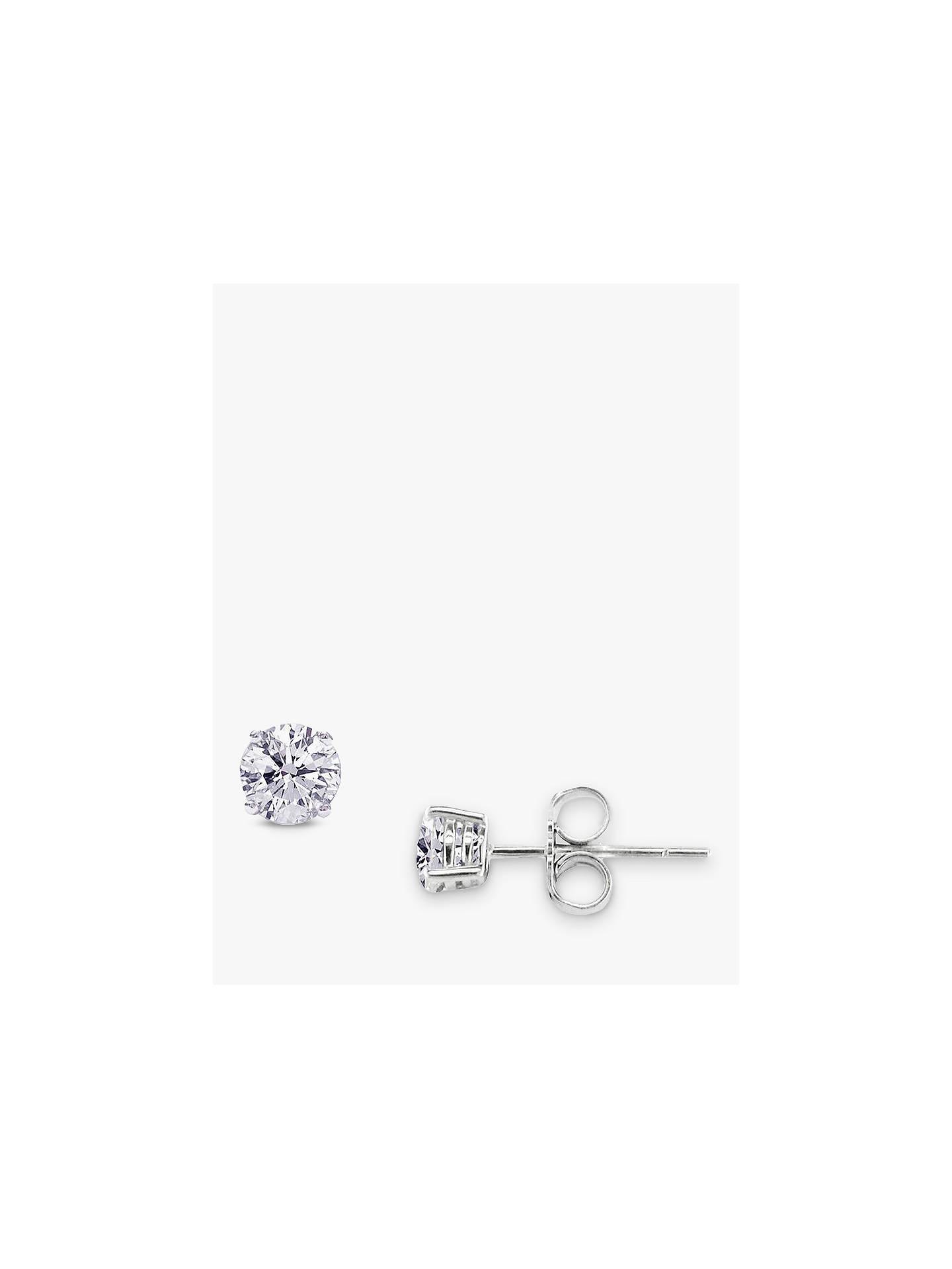 532f3433d Buy E.W Adams White Gold Diamond Stud Earrings Online at johnlewis.com ...