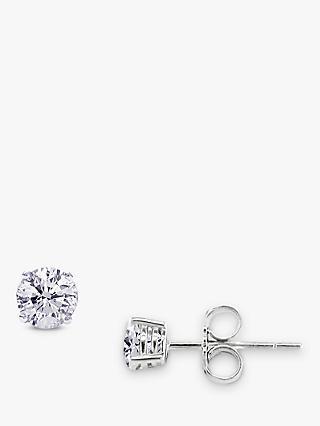 E.W Adams White Gold Diamond Stud Earrings