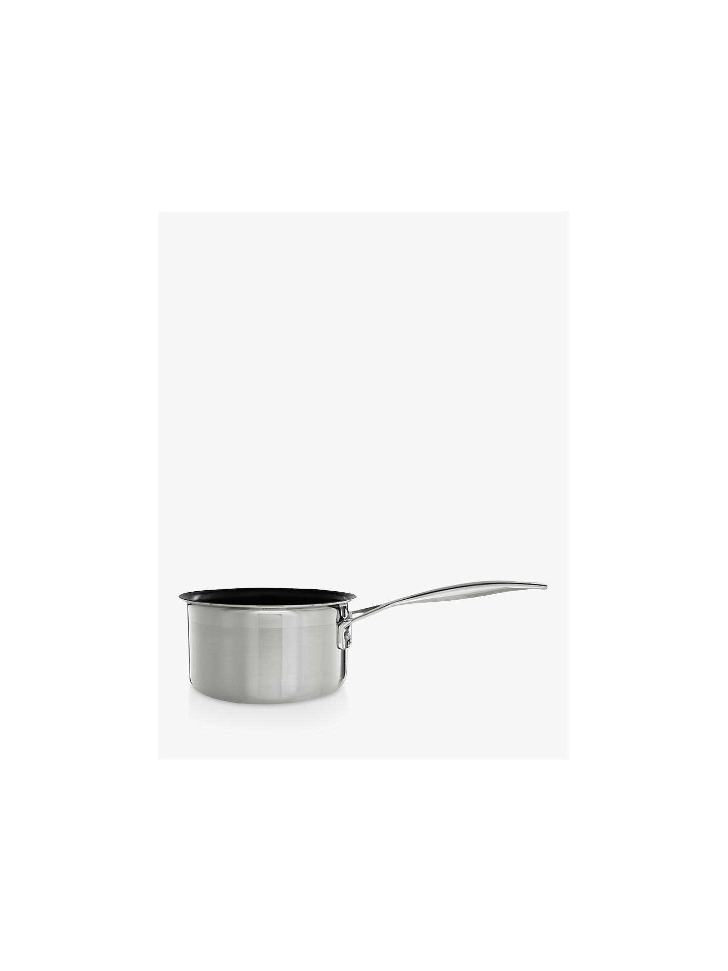 BuyLe Creuset 3-Ply Stainless Steel 14cm Non-Stick Milk Pan Online at johnlewis.com