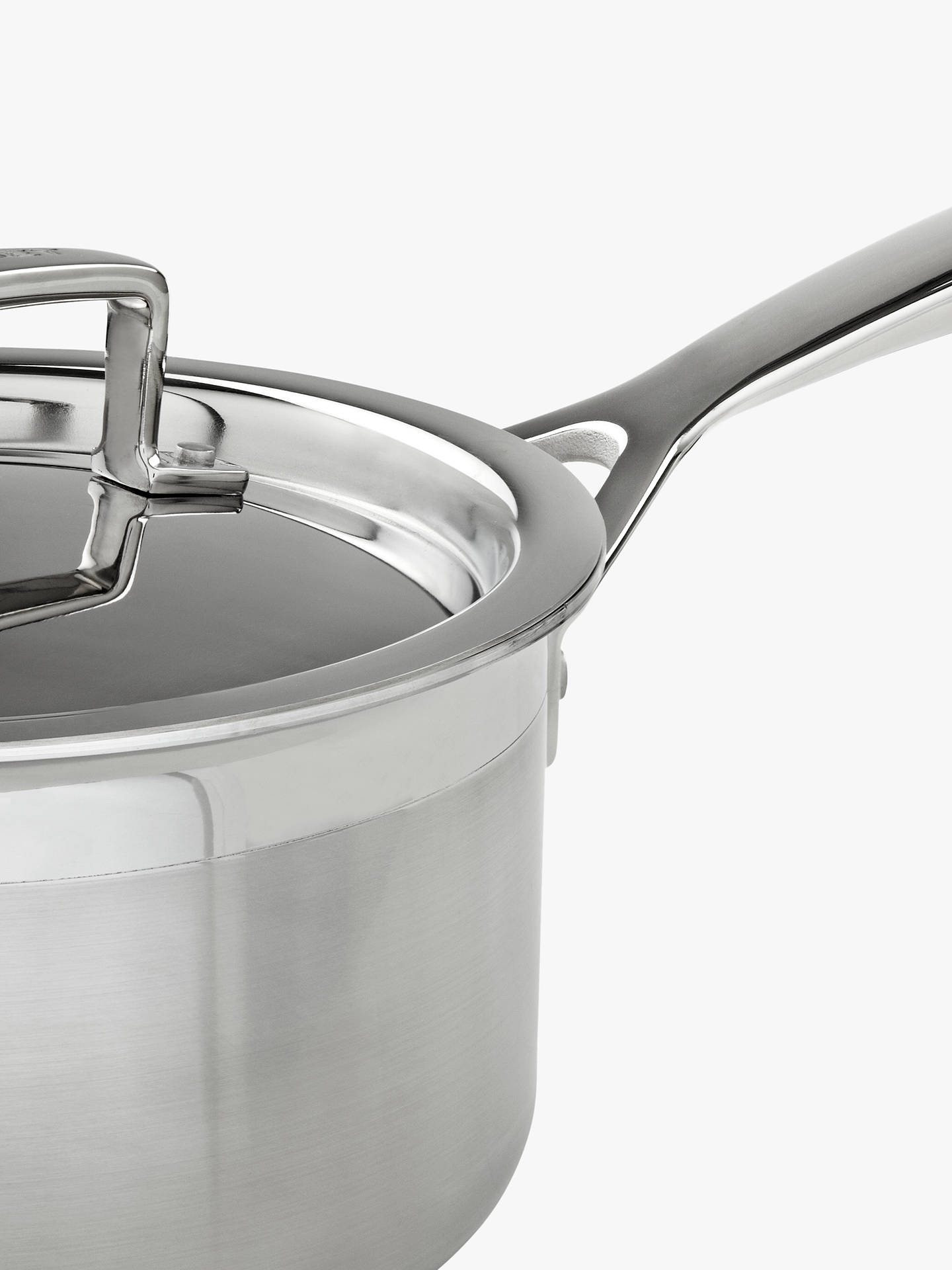 BuyLe Creuset 3-Ply Stainless Steel Lidded Saucepan, 16cm Online at johnlewis.com