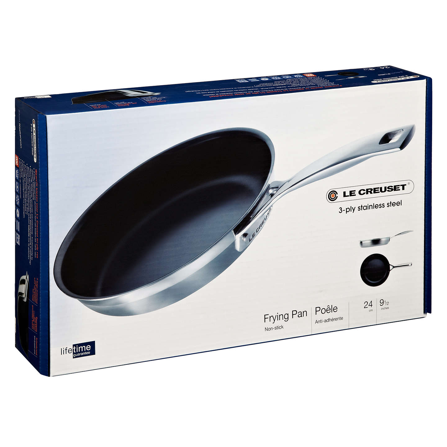 Le Creuset 3 Ply Stainless Steel 24cm Frying Pan At John Lewis