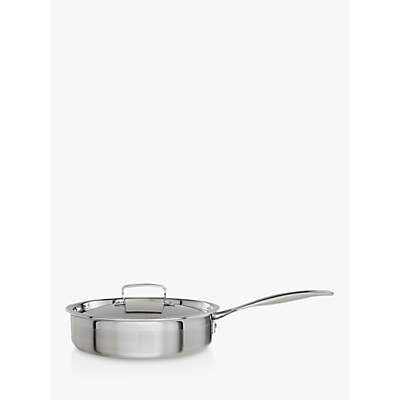 Le Creuset 3-Ply Stainless Steel 24cm Sauté Pan with Lid