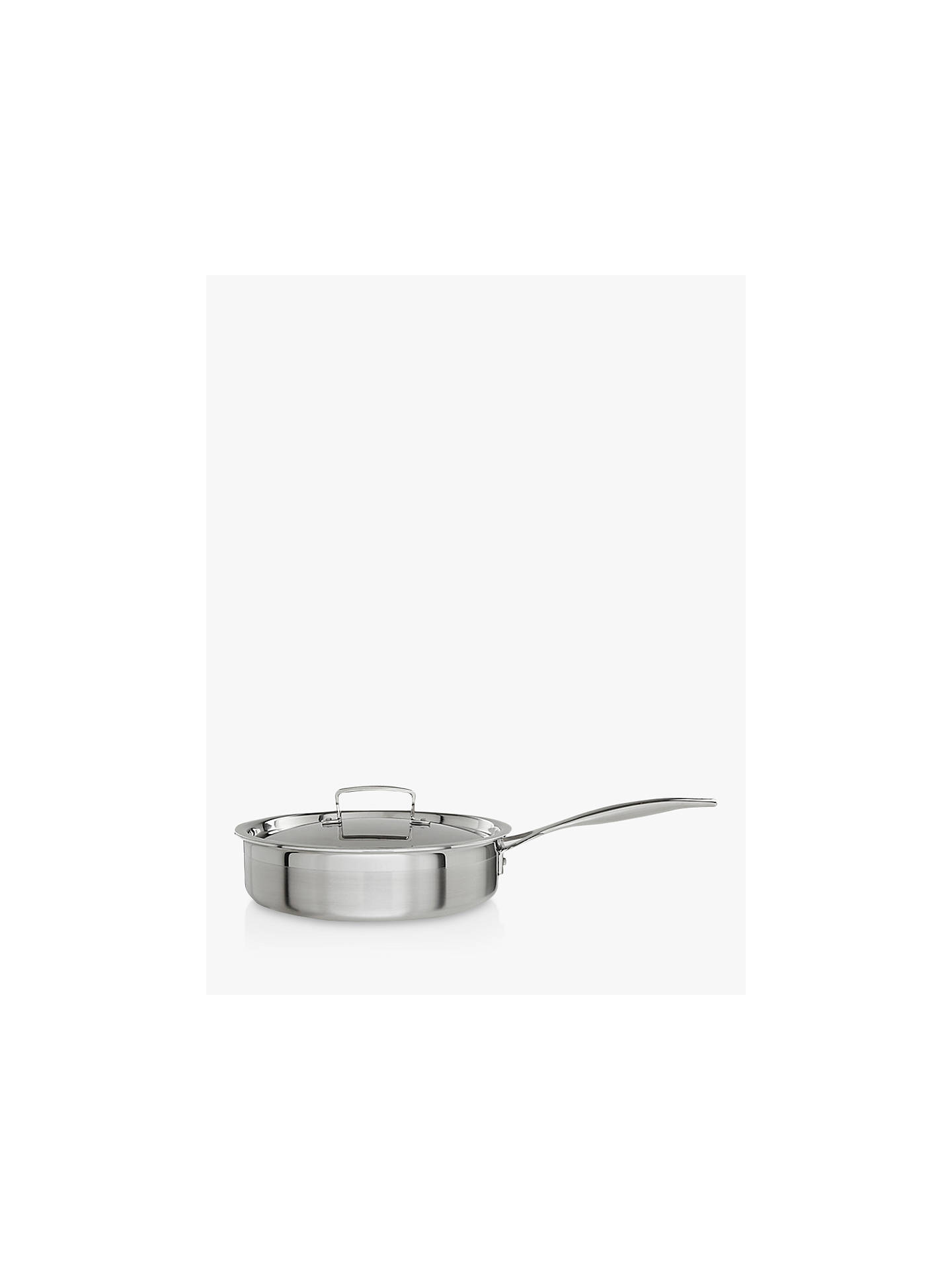 BuyLe Creuset 3-Ply Stainless Steel 24cm Sauté Pan with Lid Online at johnlewis.com