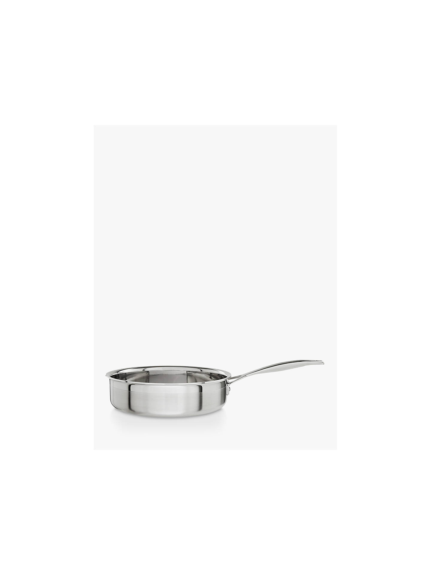 Buy Le Creuset 3-Ply Stainless Steel 24cm Sauté Pan with Lid Online at johnlewis.com