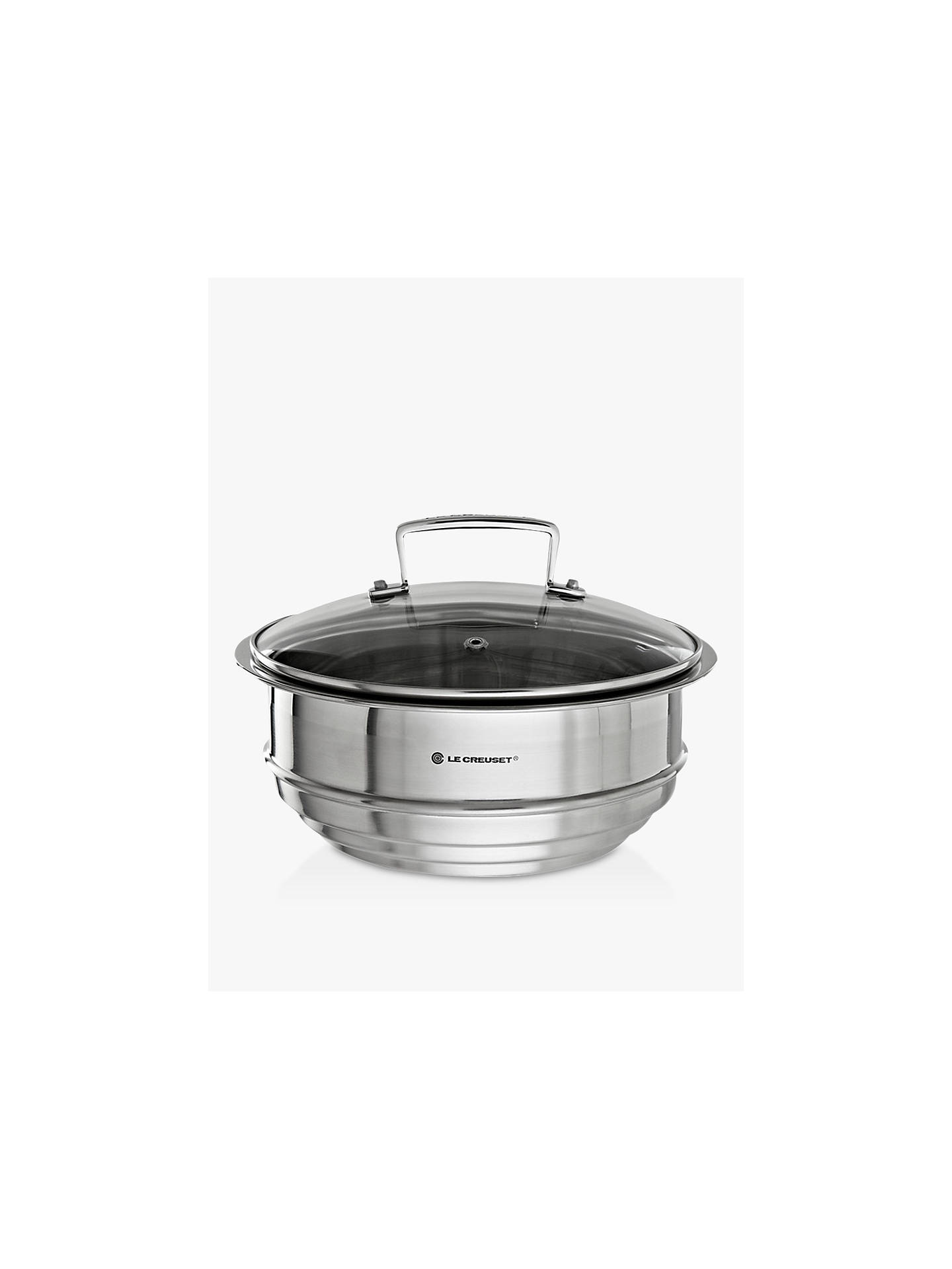 BuyLe Creuset 3-Ply Stainless Steel Multi-Steamer with Glass Lid Online at johnlewis.com