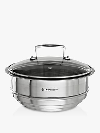 Le Creuset 3-Ply Stainless Steel Multi-Steamer with Glass Lid