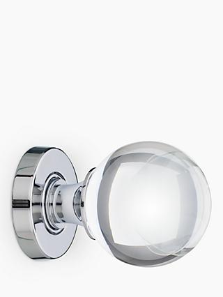 John Lewis & Partners Glass Mortice Knobs, Pack of 2, Dia.55mm