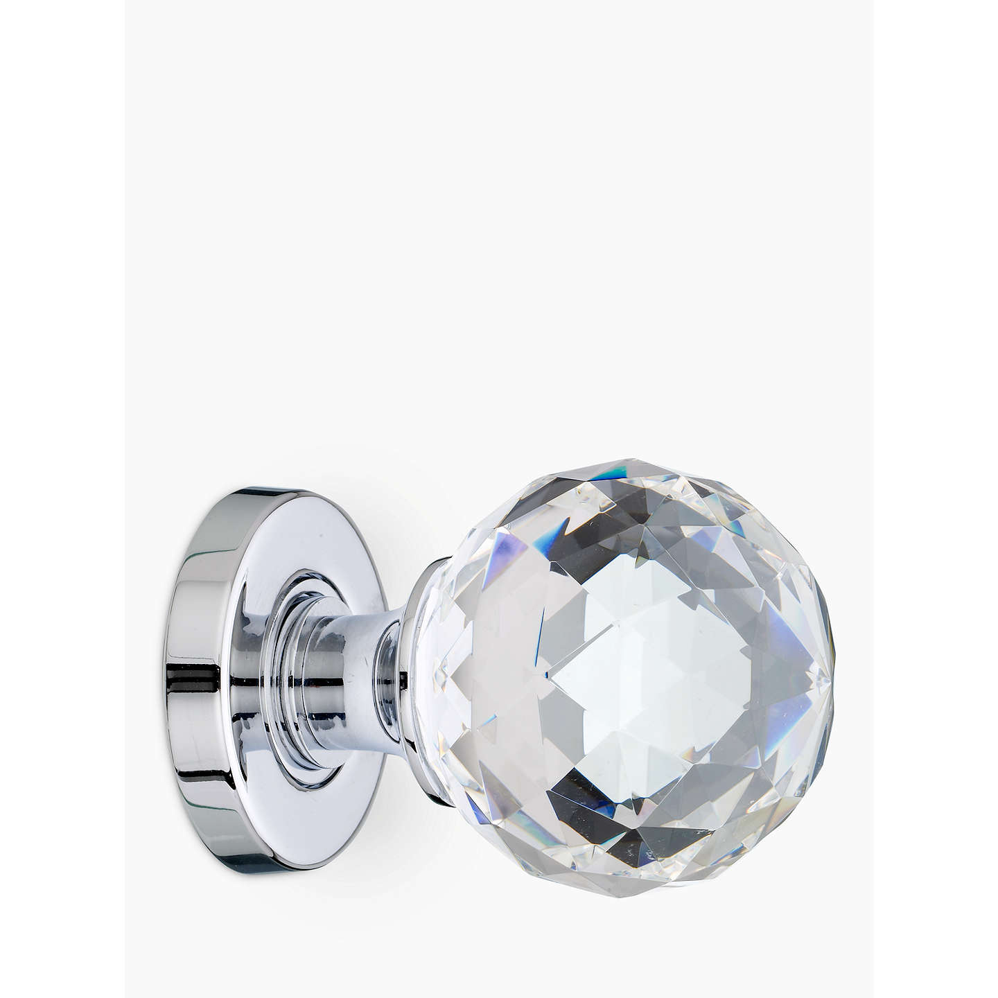 BuyJohn Lewis Crystal Mortice Knobs, Pack of 2, Chrome, Dia.55m Online at johnlewis.com