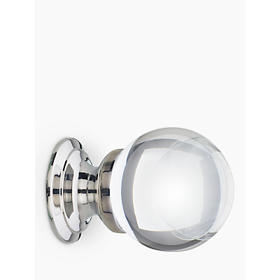 Image of John Lewis Glass Cupboard Knob, Dia.30mm