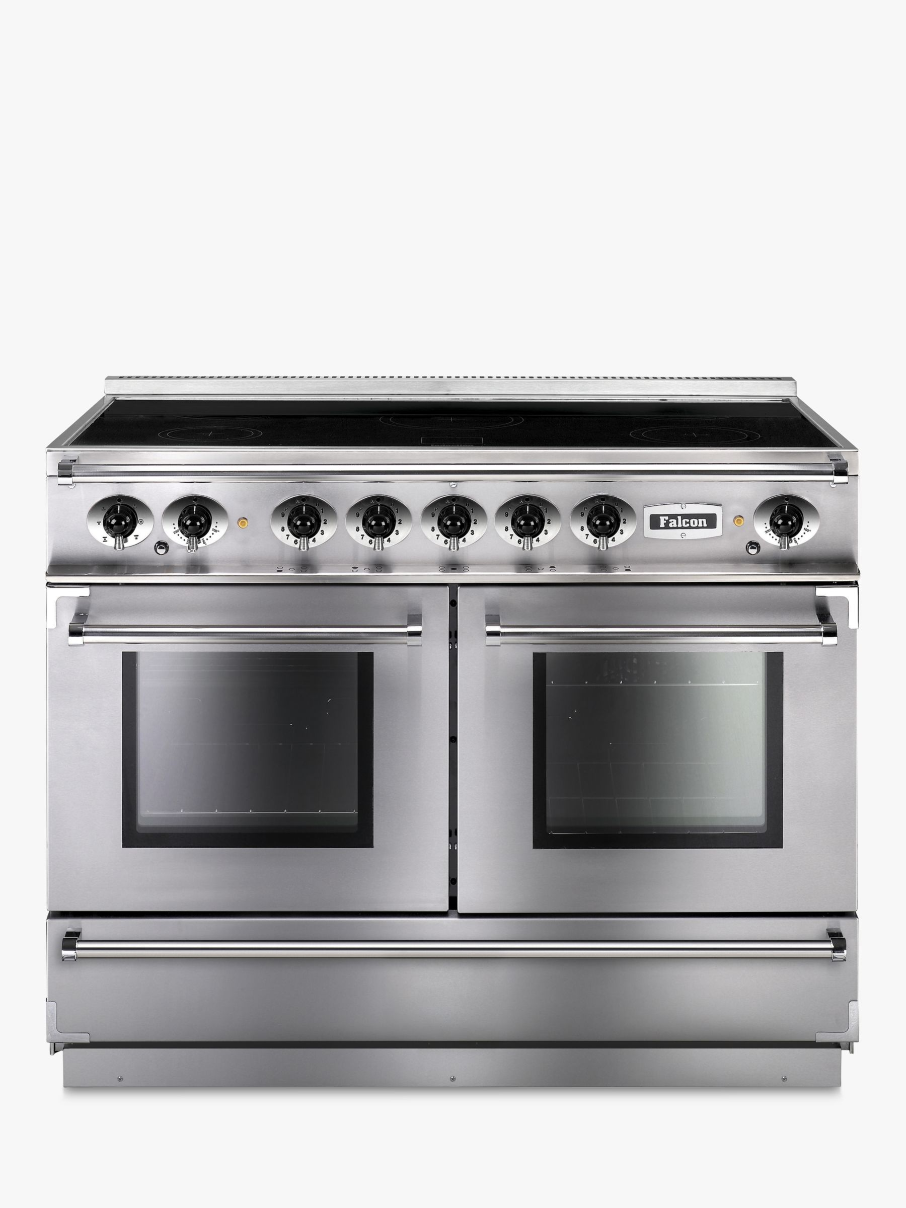 Falcon Falcon Continental 1092 EISS/C-EU Induction Hob Range Cooker, Stainless Steel & Chrome