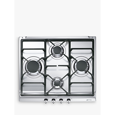 Image of Smeg Classic SE60SGH3 4 Burner Gas Hob in Stainless Steel