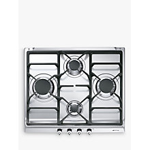 Buy Smeg SE60SGH3 Gas Hob, Stainless Steel Online at johnlewis.com