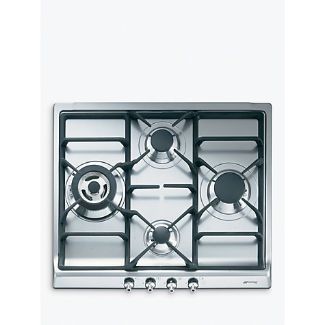 Buy Smeg SER60SGH3 Gas Hob, Stainless Steel Online at johnlewis.com