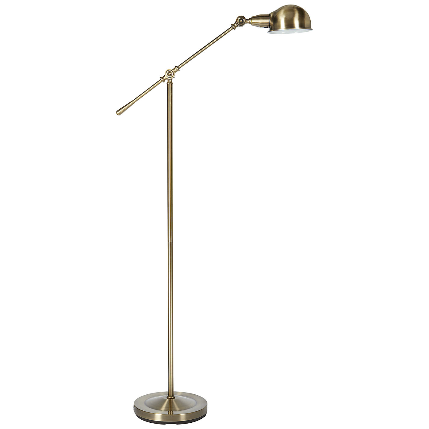 Buy john lewis james floor lamp antique brass john lewis buy john lewis james floor lamp antique brass online at johnlewis mozeypictures Gallery