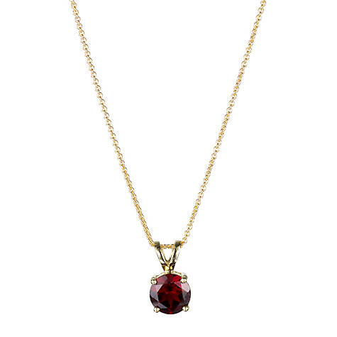 Buy EWA 9ct Gold Pendant Necklace, Red Garnet Online at johnlewis.com