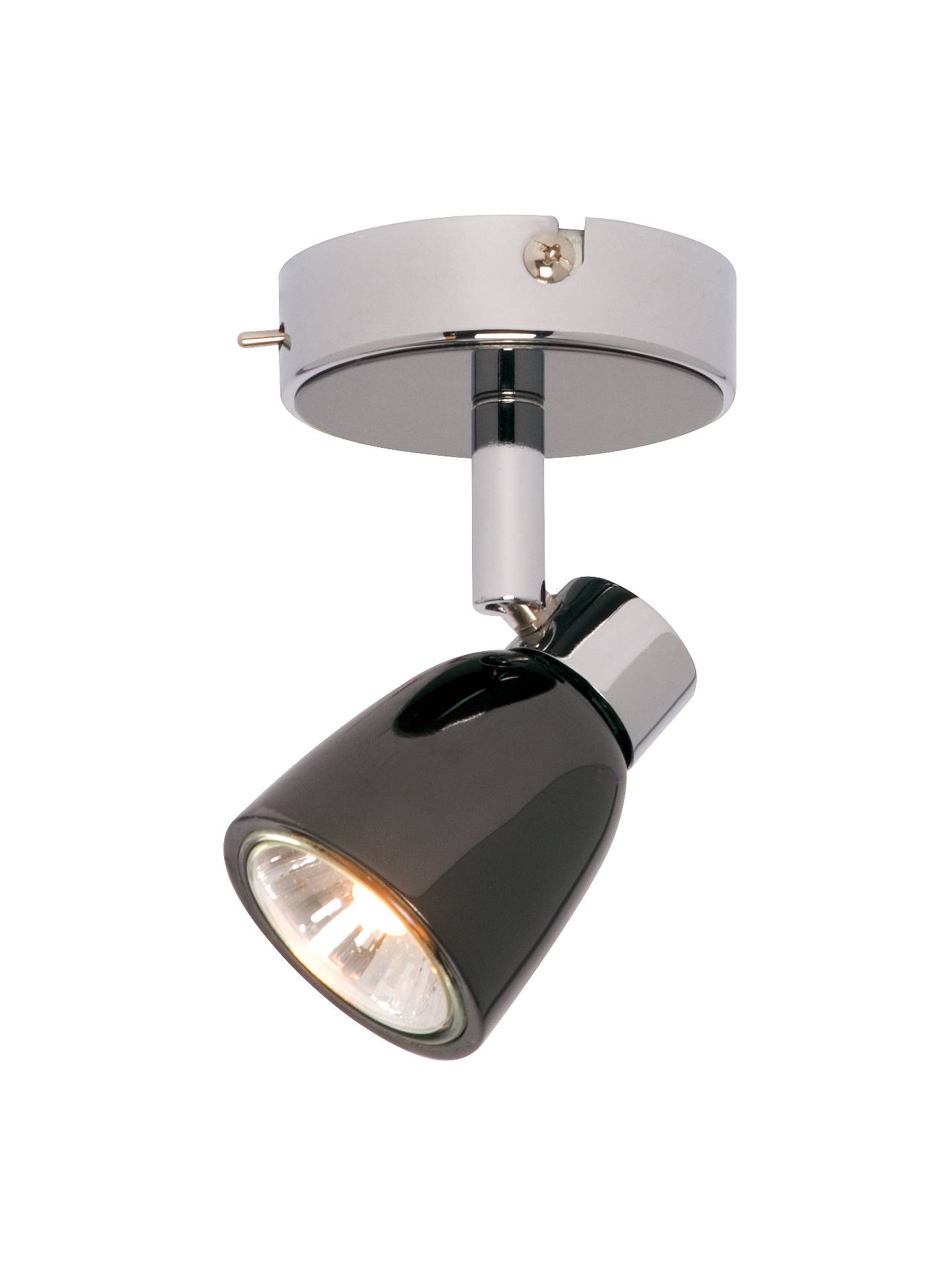 BuyJohn Lewis & Partners Fenix GU10 LED Single Spotlight, Black Pearl Nickel Online at johnlewis.com