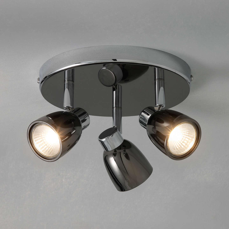 Kitchen Lighting John Lewis: John Lewis Fenix 3 LED Spotlight Ceiling Plate, Black