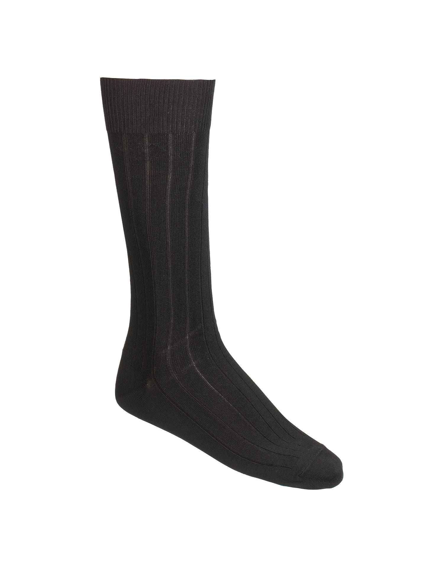 BuyCalvin Klein Rib Socks, Pack of 3, One Size, Black Online at johnlewis.com