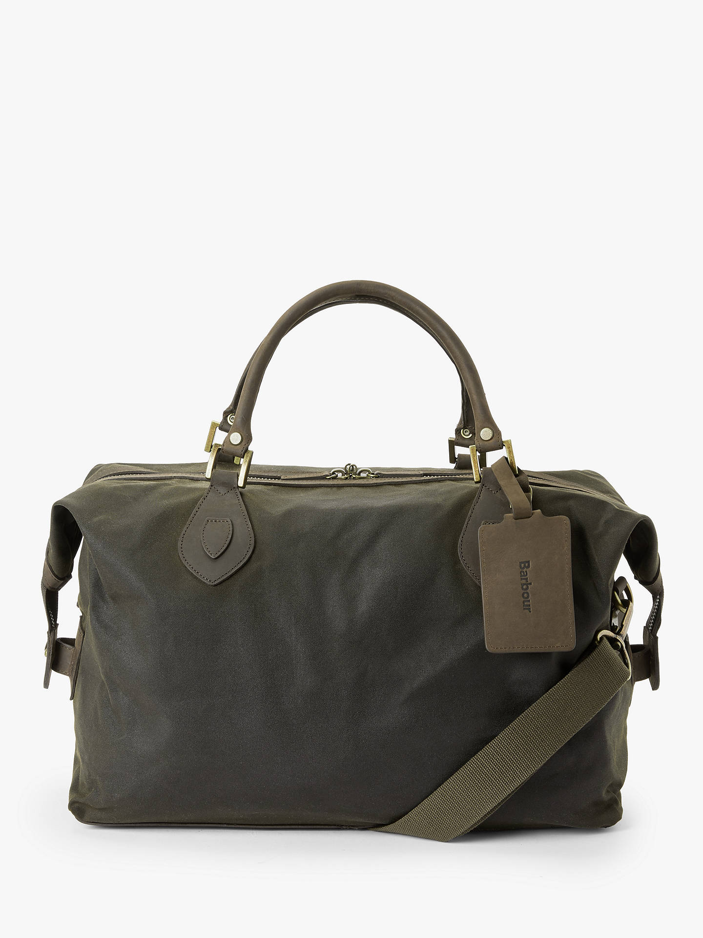 6466a105c4d Barbour Wax Cotton Travel Explorer Holdall at John Lewis & Partners