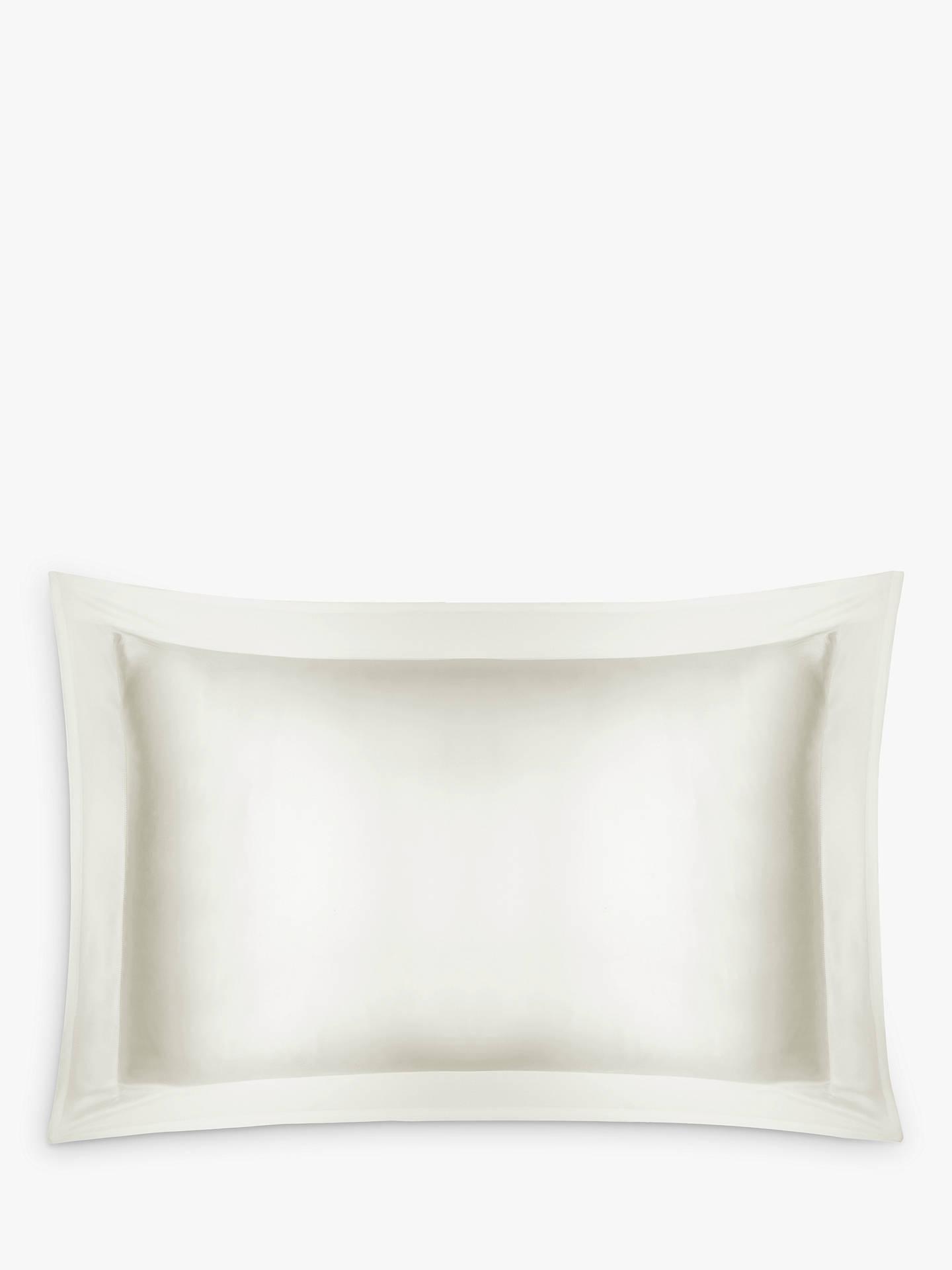 John Lewis Partners Silk Oxford Pillowcase Ivory