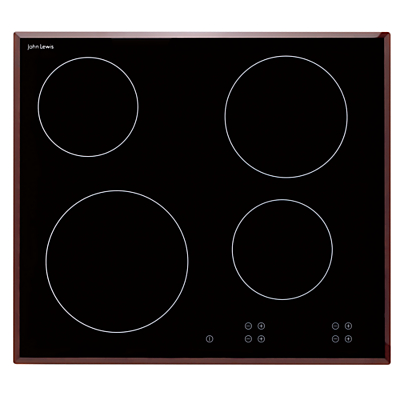 Image of John Lewis & Partners JLBICH605 Ceramic Hob, Black