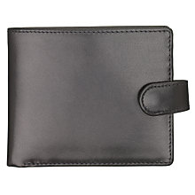Buy Launer Made in England Leather Tab Wallet, Black Online at johnlewis.com