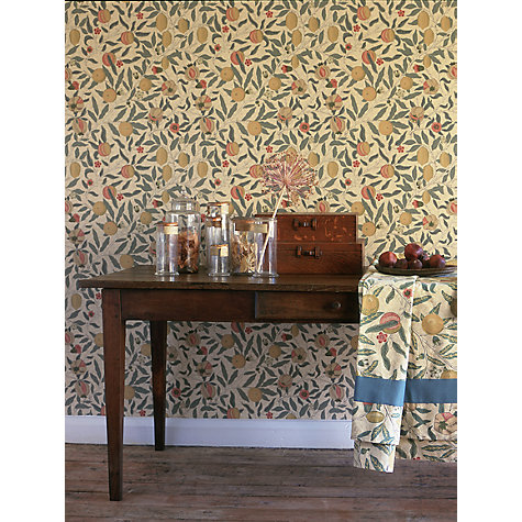 Buy Morris  Co Fruit, Beige \/ Gold \/ Coral, DGW1FU101  John Lewis