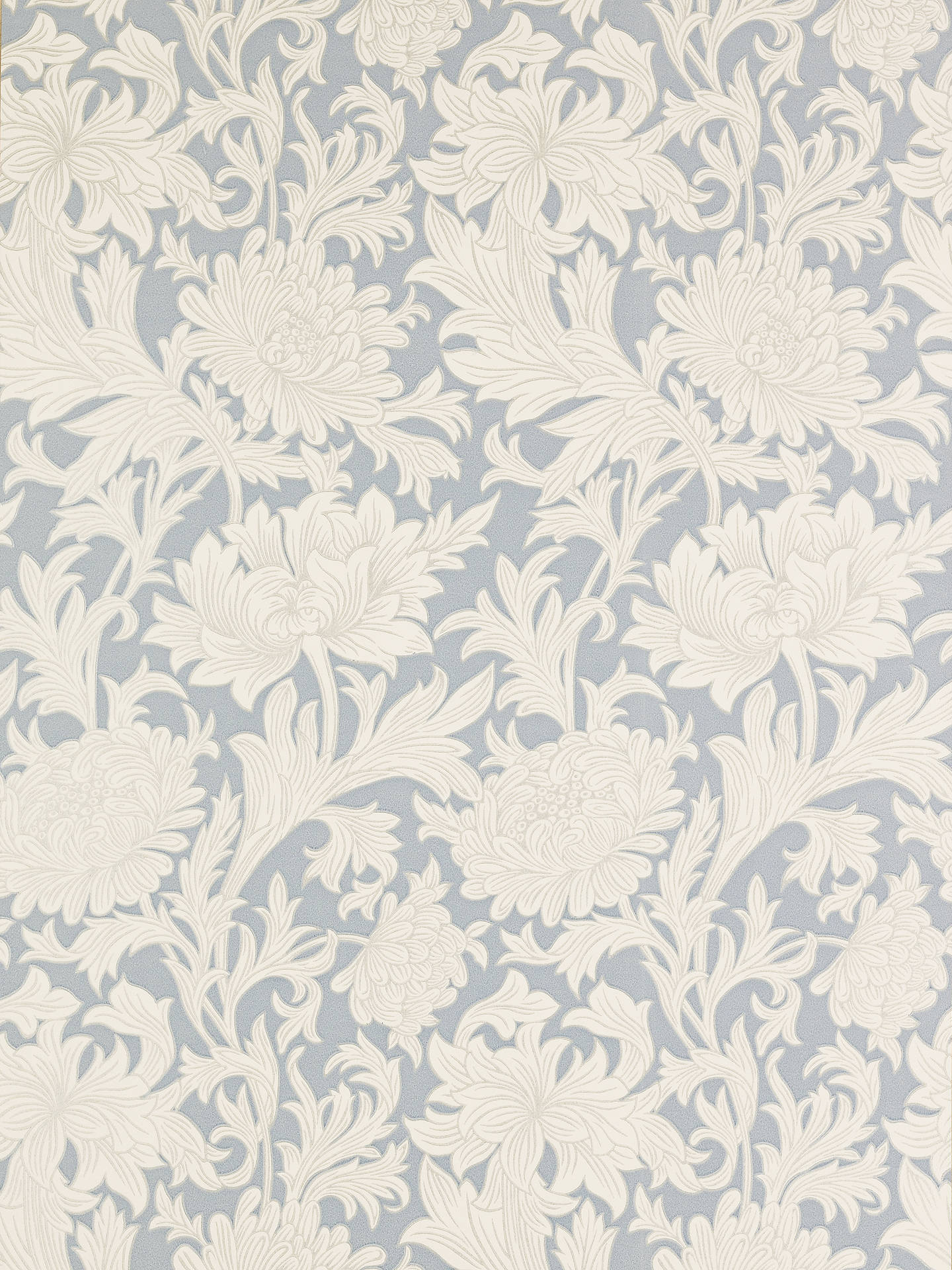 BuyMorris & Co. Chrysanthemum Toile, China Blue / Cream, DMOWCH101 Online at johnlewis.com