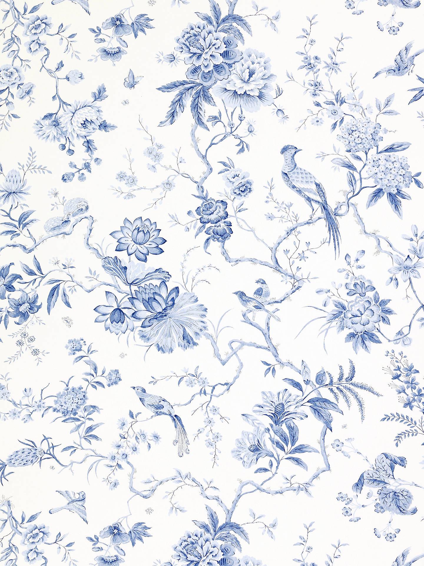 Sanderson Wallpaper Pillemont Dpempi101 China Blue Online At Johnlewis