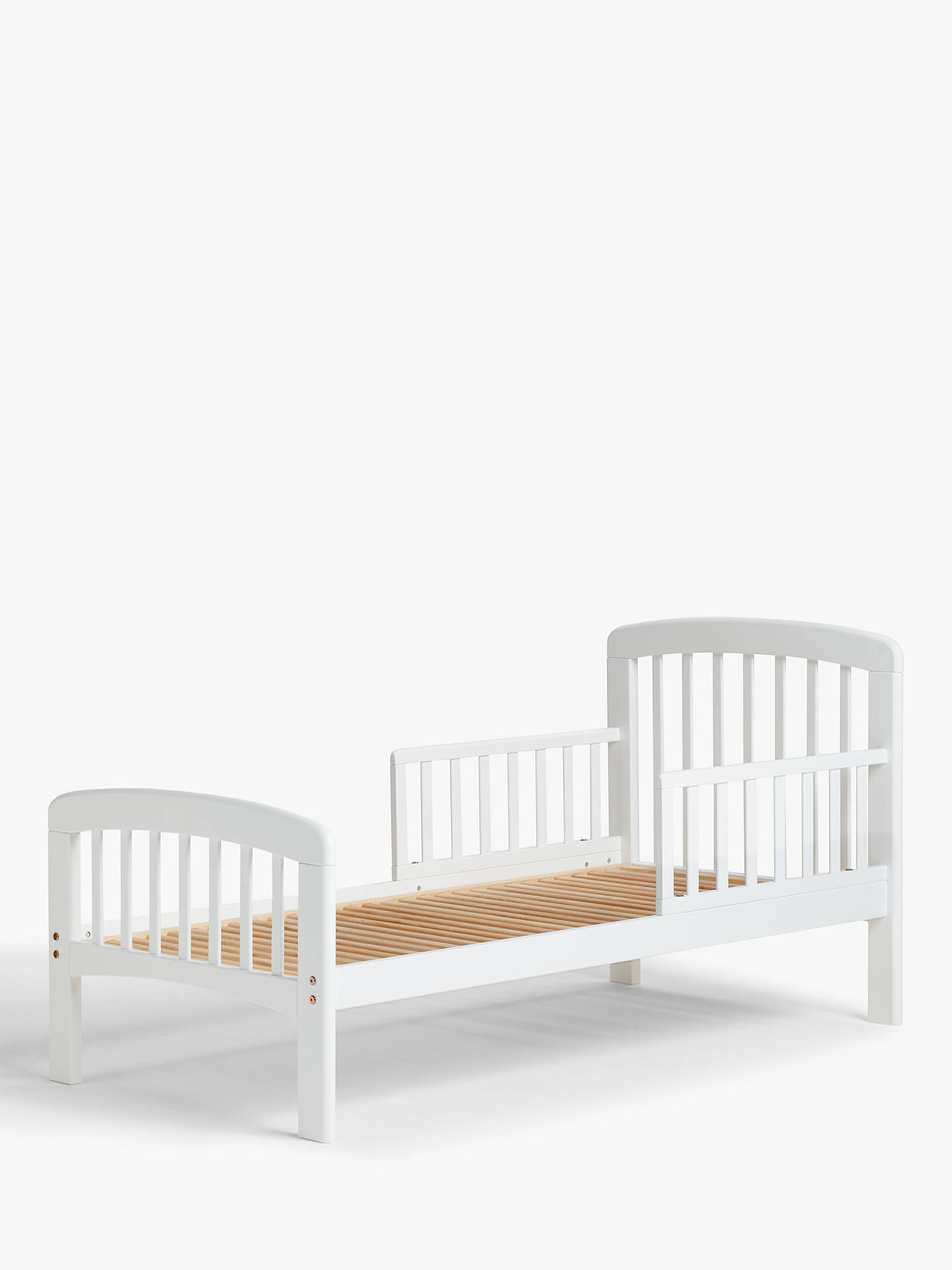 new styles e77c8 db3ff John Lewis & Partners Anna Junior and Toddler Bed, White