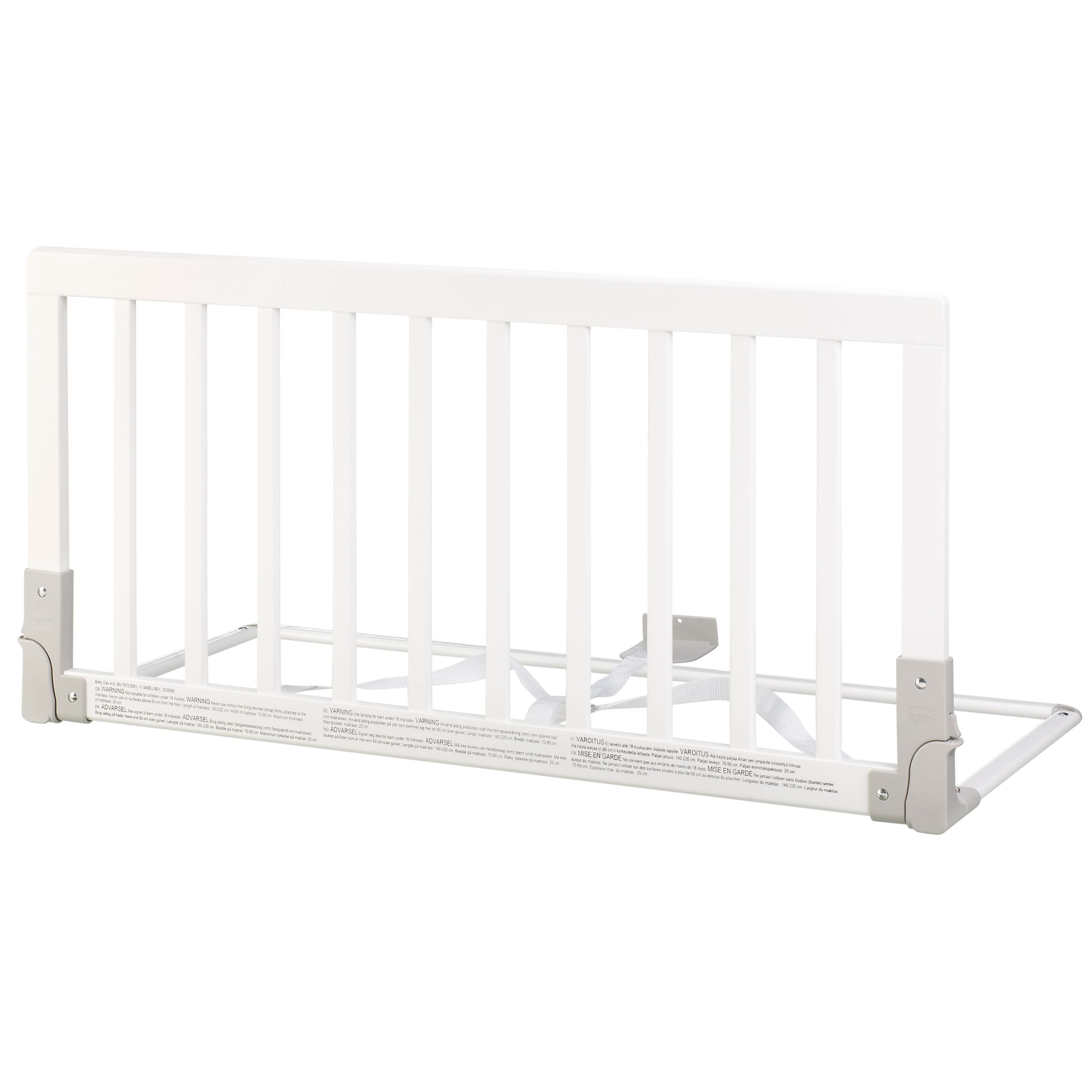 BabyDan BabyDan Wooden Bed Guard Rail, White