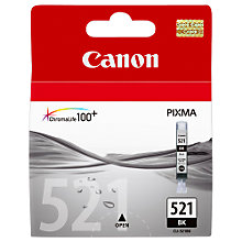 Buy Canon PIXMA CLI-521BK Inkjet Cartridge, Black Online at johnlewis.com