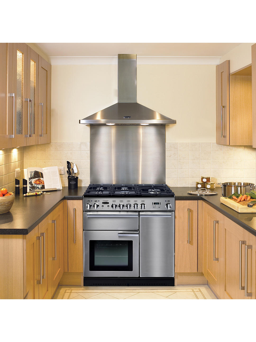 Buy Rangemaster Professional+ 90 Gas Range Cooker, Stainless Steel/Chrome Trim Online at johnlewis.com