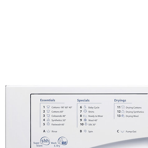 Buy Hotpoint BHWD129 Aquarius Integrated Washer Dryer, White Online at johnlewis.com