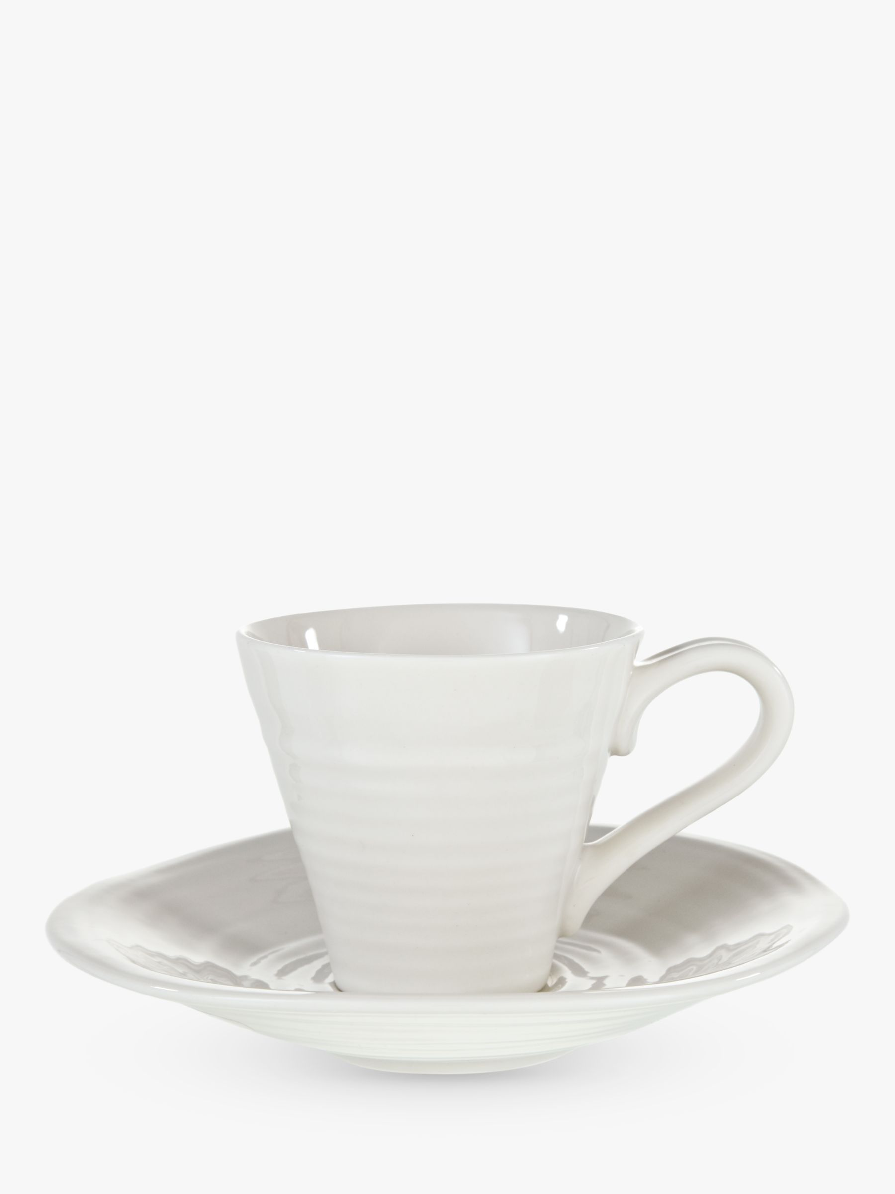 Sophie Conran for Portmeirion Sophie Conran for Portmeirion Espresso Cup and Saucer, White, Pack of 2