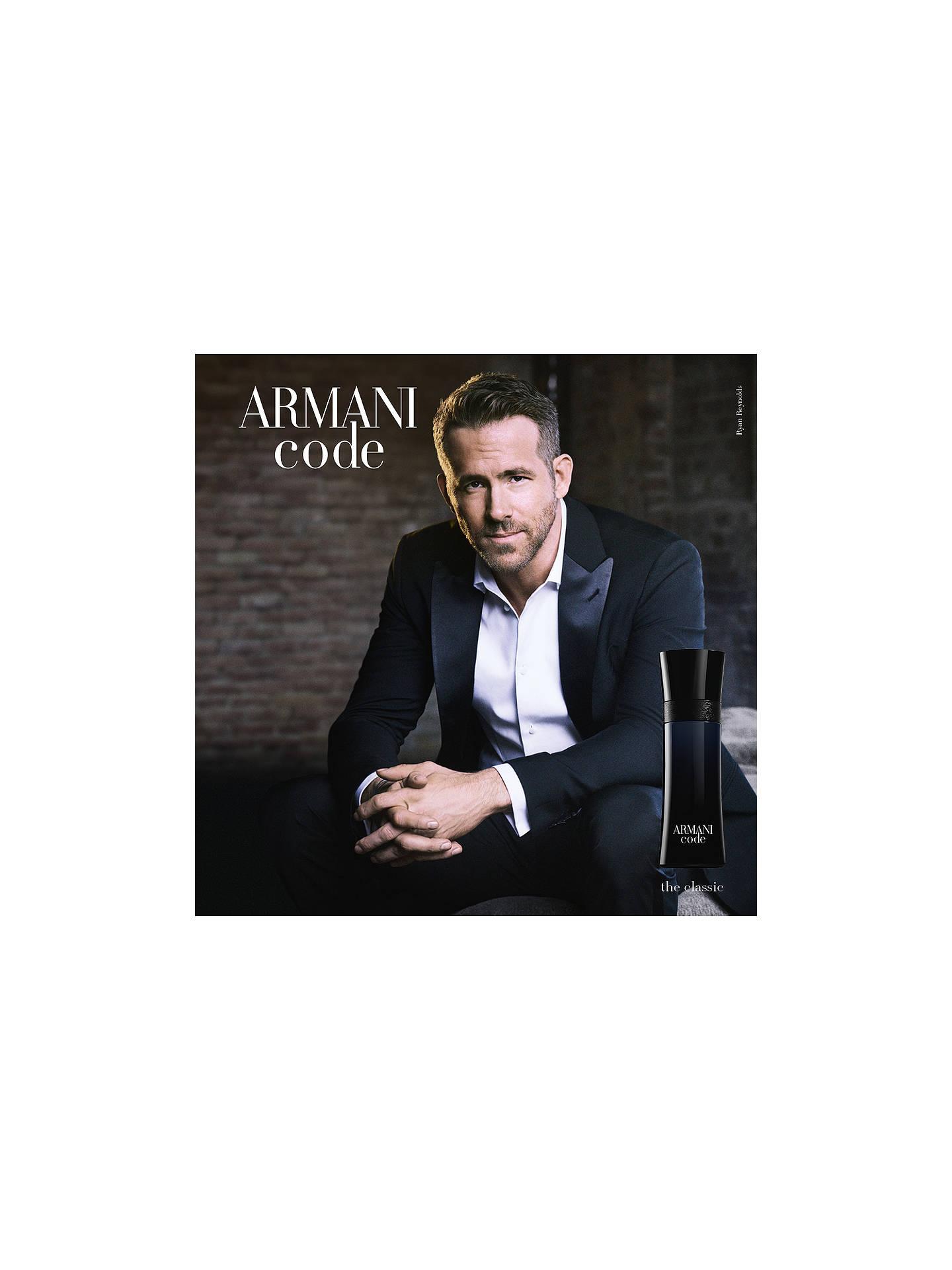68cd926e65 Buy Giorgio Armani Black Code For Men Eau de Toilette, 50ml Online at  johnlewis.