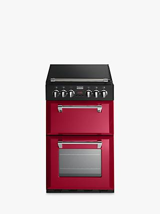 Stoves Richmond 550E Electric Mini Range Cooker, Jalapeño Red