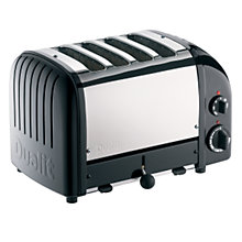 Buy Dualit NewGen Toaster, 4-Slice, Black + FREE Sandwich Cage Online at johnlewis.com