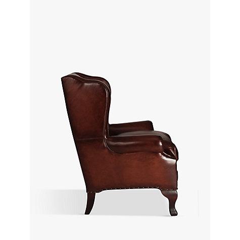 Buy John Lewis Compton Leather Wing Armchair Buffalo