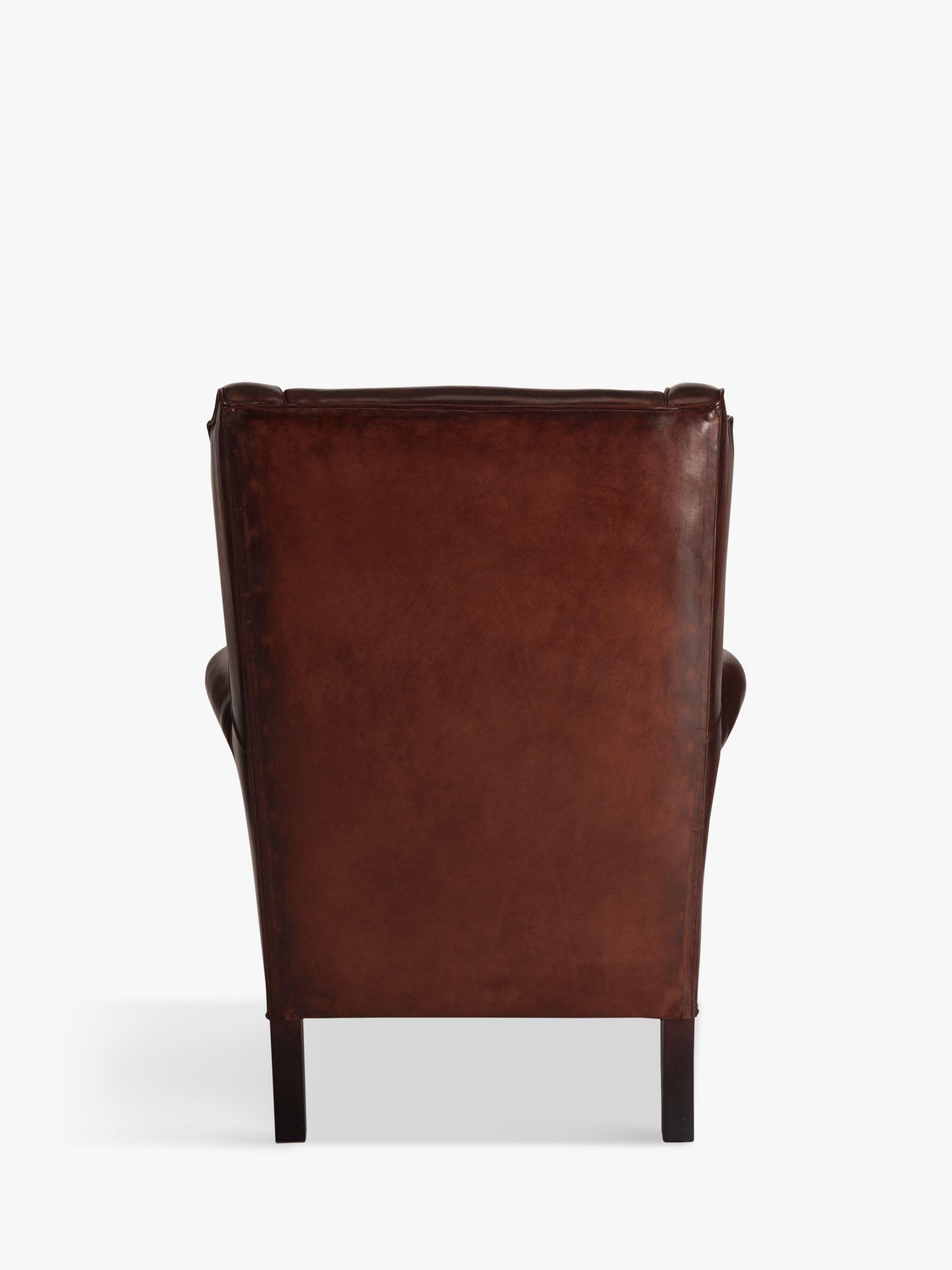 Buy John Lewis Compton Leather Wing Armchair Antiqued John Lewis