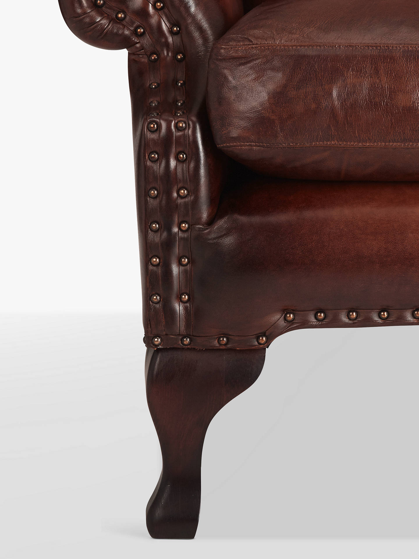 BuyJohn Lewis & Partners Compton Leather Wing Armchair, Buffalo Antique Online at johnlewis.com