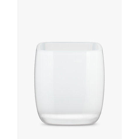 Buy House by John Lewis Cubi Bathroom Tumbler, White Online at johnlewis.com