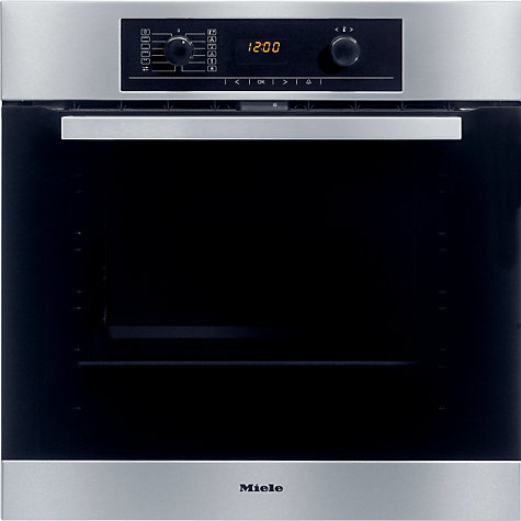 Buy Miele H5240B Single Electric Oven, Stainless Steel Online at johnlewis.com